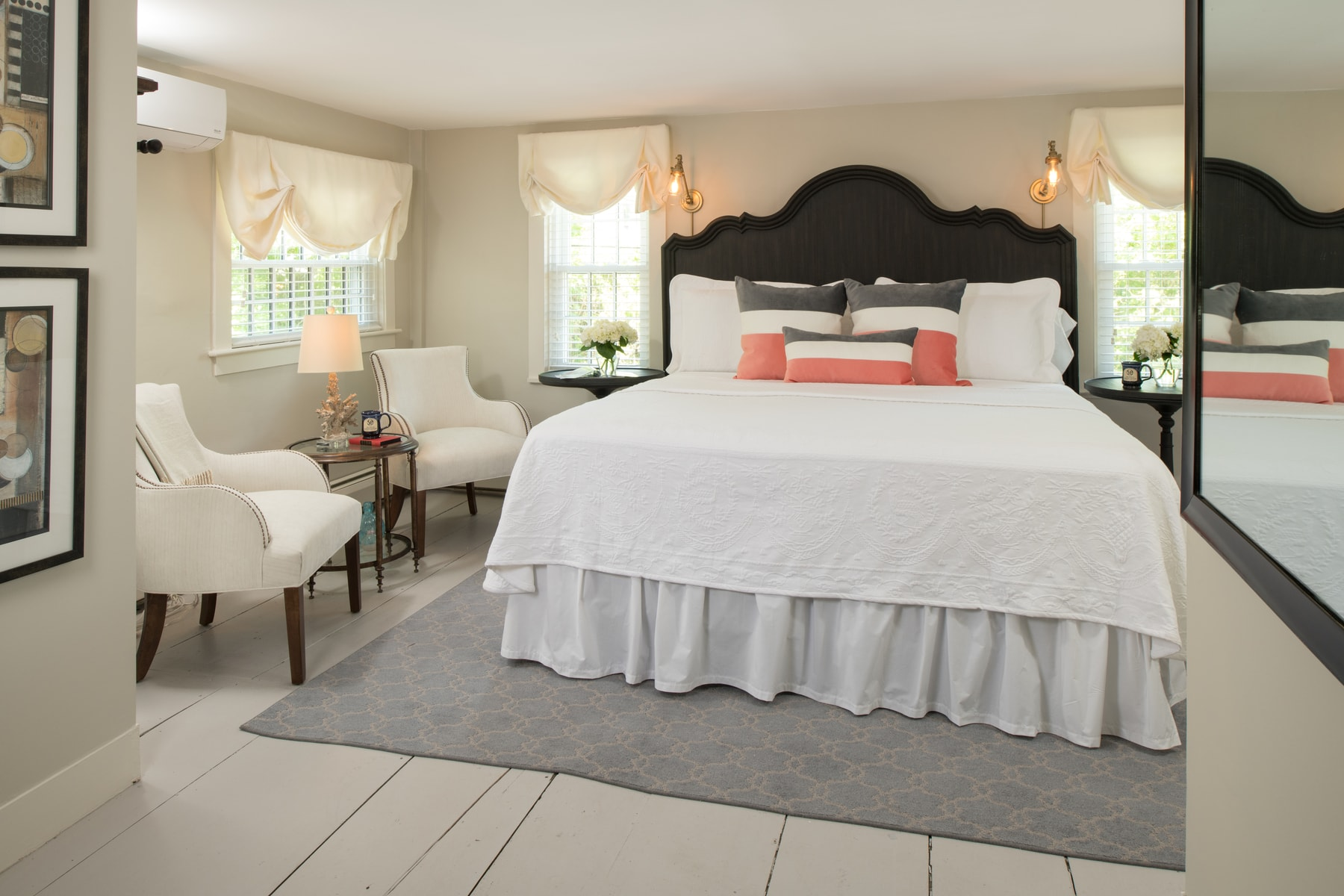 The Island Creek room is one of the five stunning accommodations at The Inn at Yarmouth Port