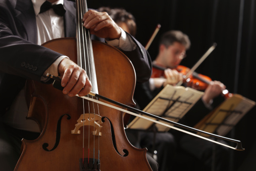 person playing in the orchestra