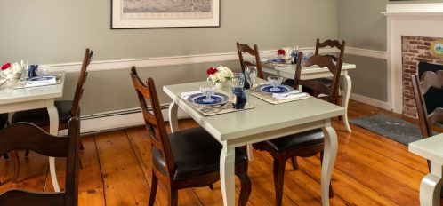 The Common Area Dining Room at The Inn at Yarmouth Port