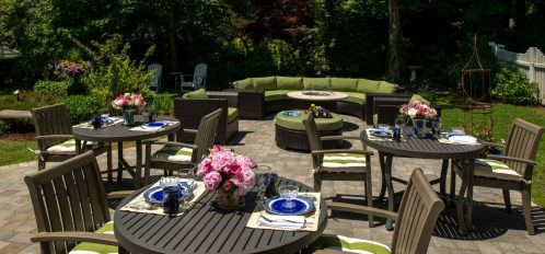 the patio of The Inn at Yarmouth Port during the day