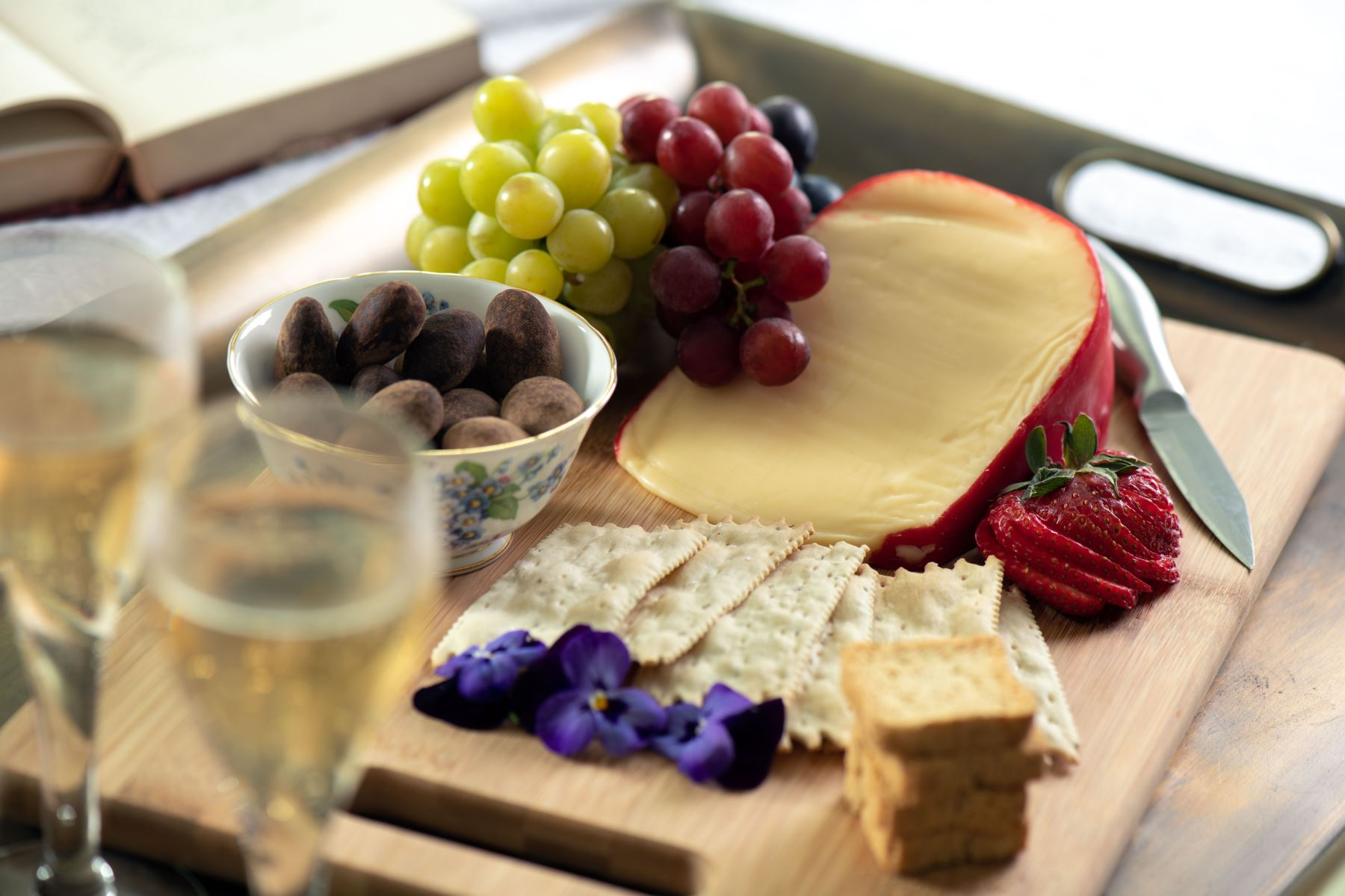cheese and grape board