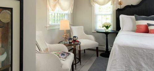 the seating area at The Inn at Yarmouth Port