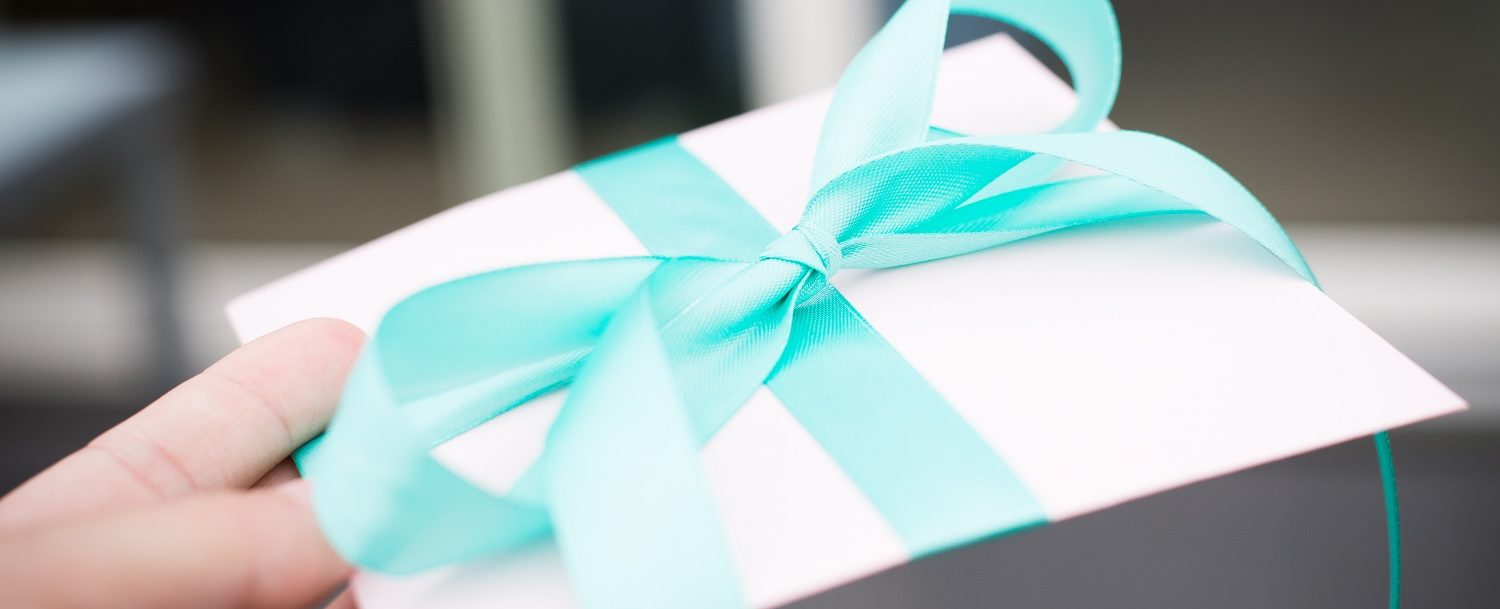 Beautfully wrapped gift - enevelope