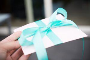 Beautfully wrapped gift - enevelope