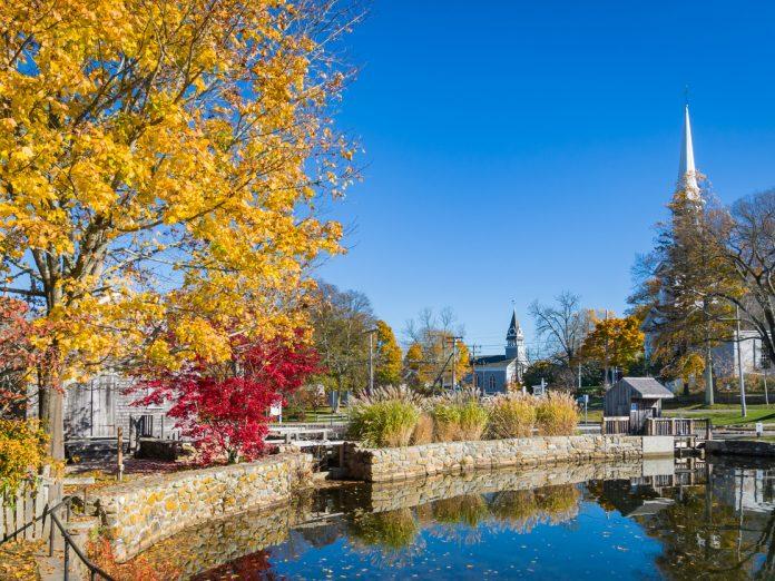 Sandwich, Cape Cod, autumn village.
